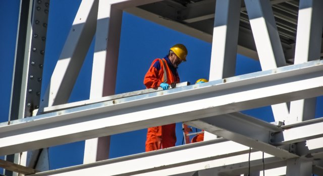 Construction worker at jobsite